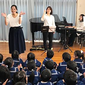保育園でリトミックとヴァィオリンの生演奏